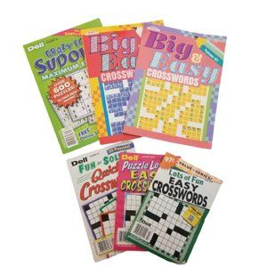 6 Brand New Puzzle Books - Crossword and Sudoku